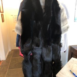 Black Fox Fur with double tails